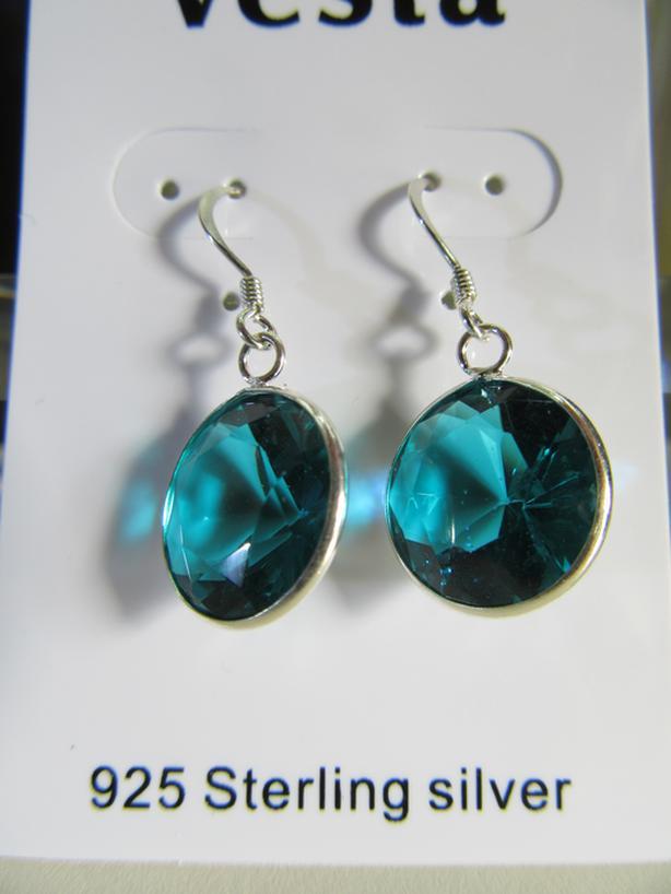 Earrings Cubic Zirconia Green