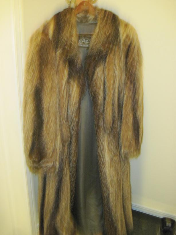 Full Length Raccoon fur coat