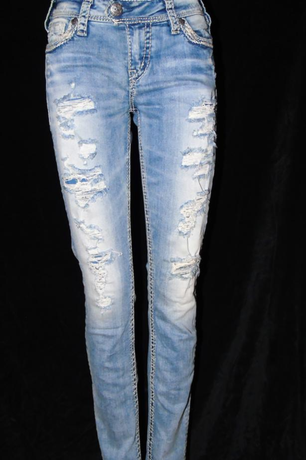 Silver jeans - size 27 - Sexy and stylish!