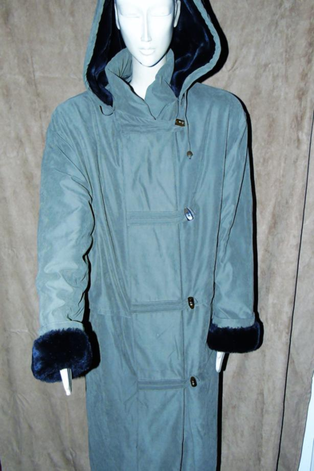 XL ankle length khaki warm winter jacket ~ Perfect Condition