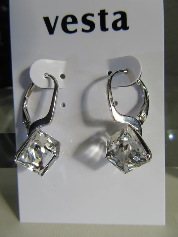 Earrings Cubic Swarovski Clear