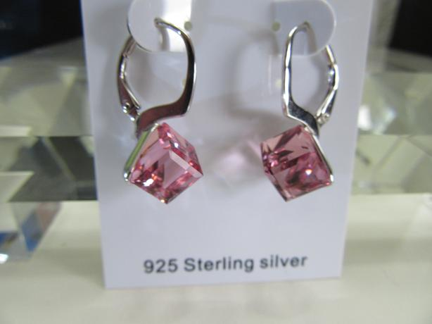 Earring Pink Swarovski elements