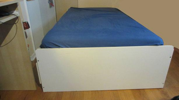 White captain bed with 3 drawers