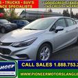2017 Chevrolet Cruze LT  - Bluetooth -  SiriusXM - $100.95 B/W