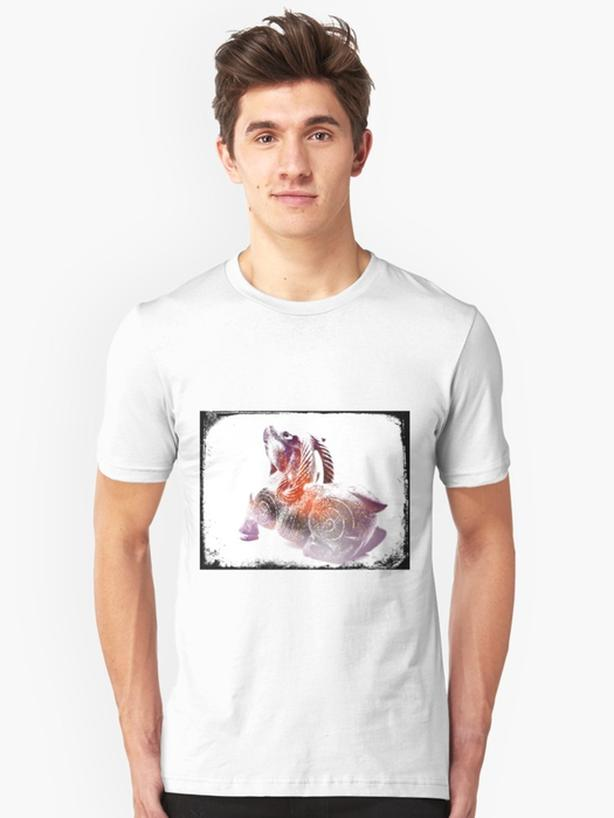 Goat Grunge artsy Tshirt, NEW design!