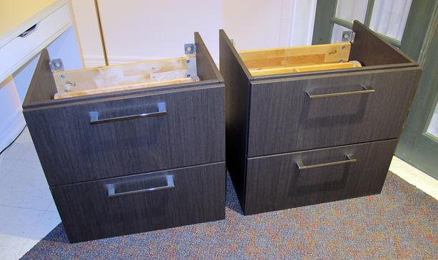 Ikea 2-drawer bathroom sink cabinets