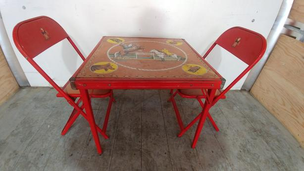 Rare 1950's Roy Rogers Table and Chair Set
