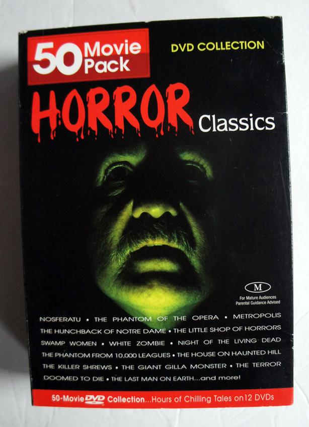 Horror Classics 50 Movie Pack (DVD, 2004, 12-Disc Set)