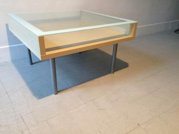 Free Guc Ikea Magiker Coffee Table With Glass Top Saanich Victoria