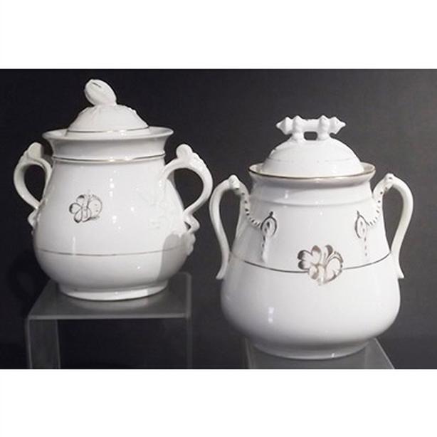 Tea Leaf gold clover large sugar bowls