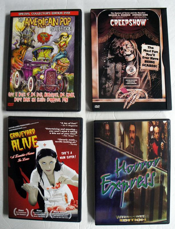 Four DVD Creepshow Horror Movies
