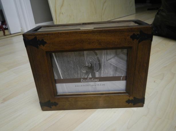 Wooden box photo album - New