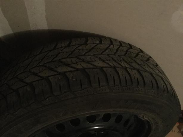 4-star goodyear winter tires on rims