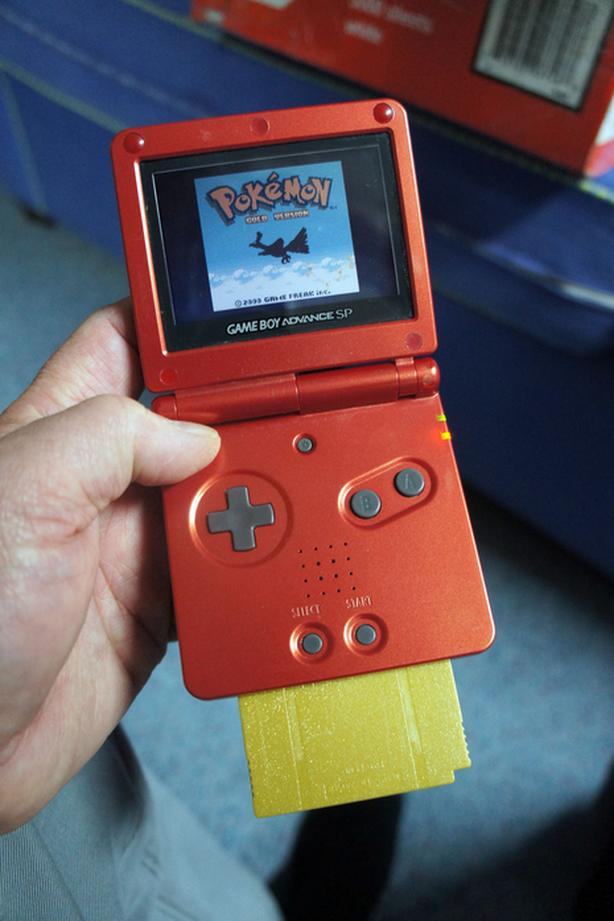 Popular Red Gameboy Advance SP, model AGS-001