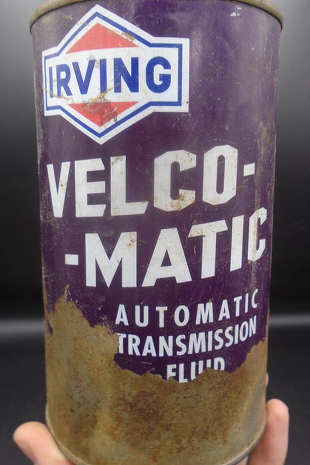 VINTAGE 1960's IRVING VELCO-MATIC ATF IMPERIAL QUART CAN