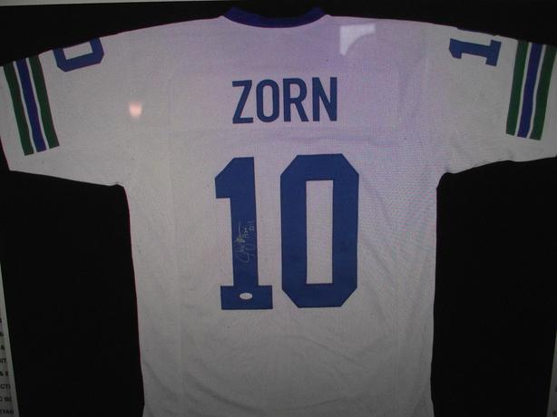 Seattle Seahawks Auto Jersey #10 Jim Zorn Central Saanich, Victoria  free shipping