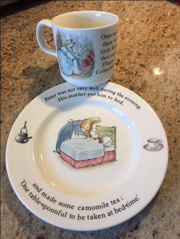 Wedgwood, Child's Peter Rabbit cup and plate