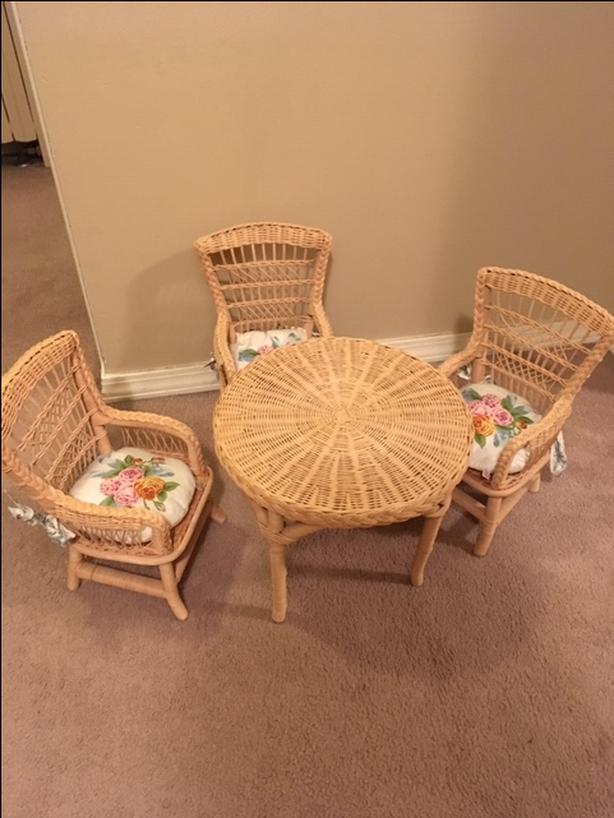 Doll Dining Tablechair Set Fits 18 Inch Dolls Victoria City Victoria