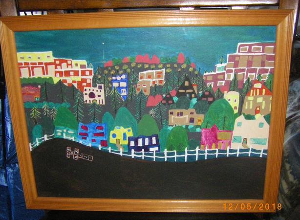 """Gorgetown"", Victoria, BC.  16.5 x 12.  Acrylic."