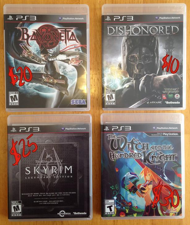 $30 - Playstation 3 (PS3) Games
