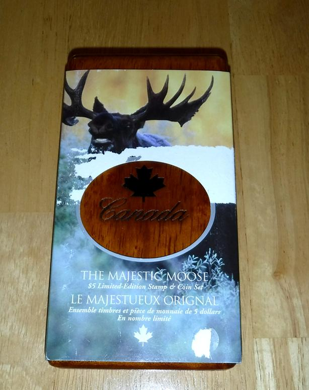 2004 The Majestic Moose $5 Coin and Stamp Set