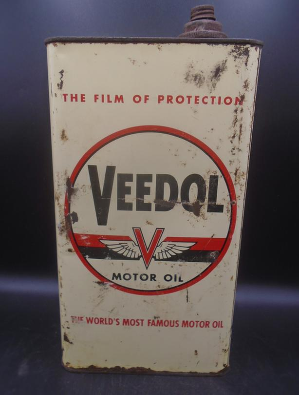 VINTAGE 1950's VEEDOL MOTOR OIL IMPERIAL GALLON CAN
