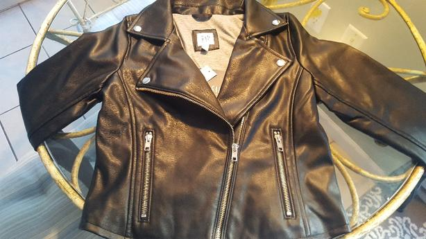0d84bb701 Girl's Gap Leather Jacket Brand New Oak Bay, Victoria
