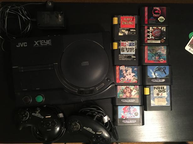  Log In needed $400 · JVC X'EYE Sega Genesis + 2 Controllers and Games