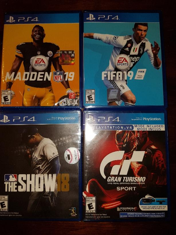 PS4 games brand new sealed