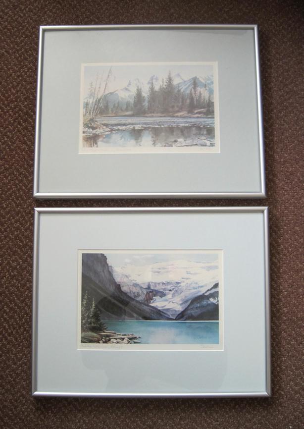 Alberta Water Colour Prints – Pair