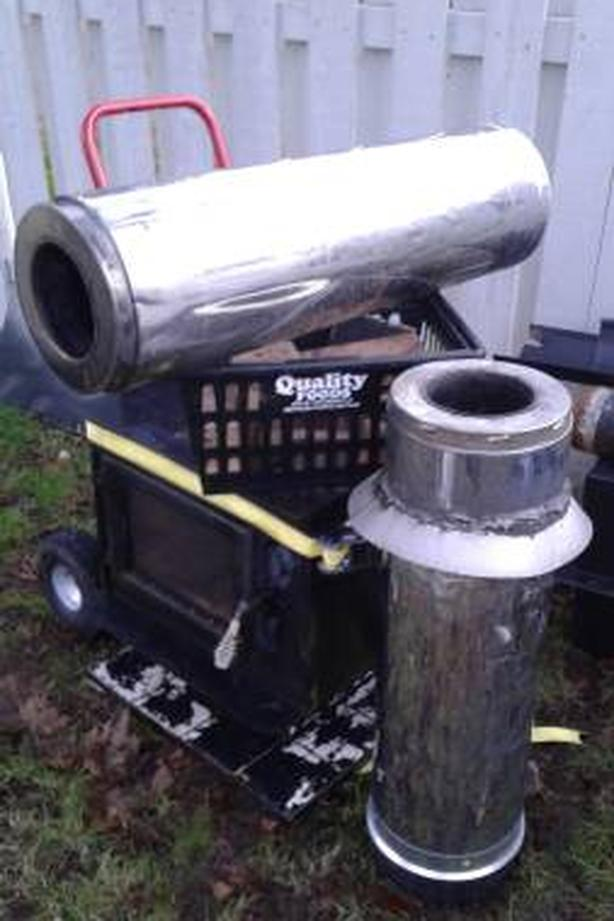 Wood Stove Pipe Stacks Bricks Heat Shields