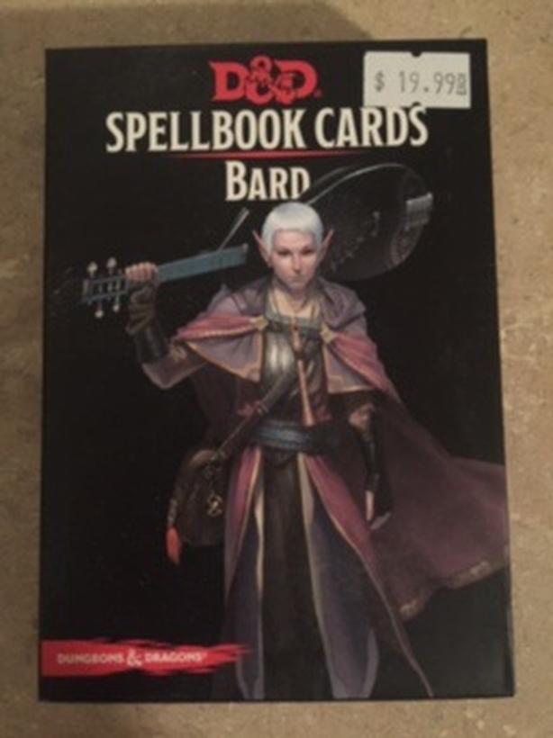 D&D Spell book cards