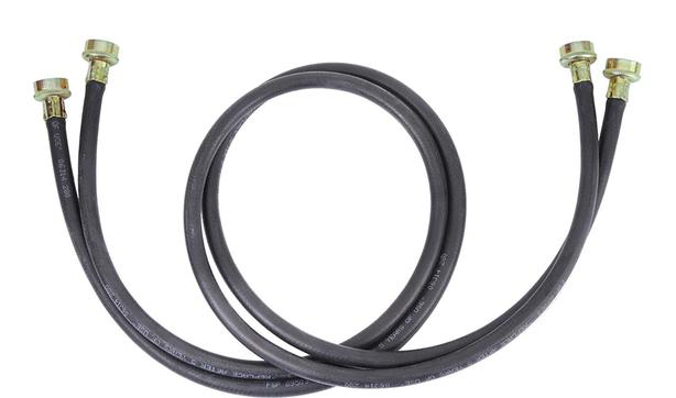 Black Rubber Washer / Dryer hoses