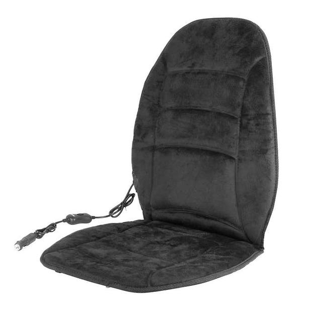 WAGAN HEALTHMATE Velour Heated Seat Cushion - Black