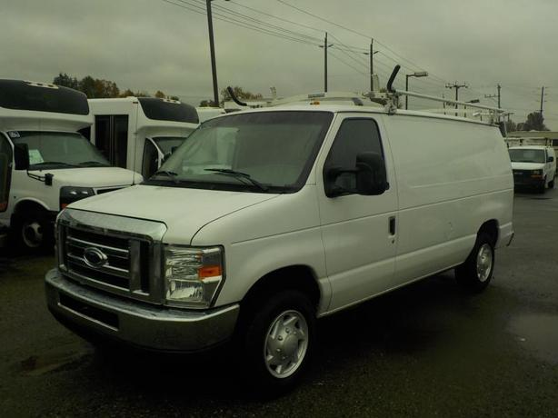 2008 Ford Econoline E-150 Cargo Van with Ladder Rack and Rear Shelving
