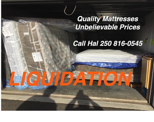 Mattress Liquidation Sale-All sizes.  Brand new with Warranty