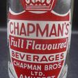 VINTAGE 1965's CHAPMAN'S BEVERAGES (8 OZ.) ACL SODA POP BOTTLE