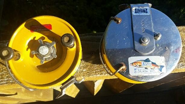 Two Alvey Salmon Reels for sale