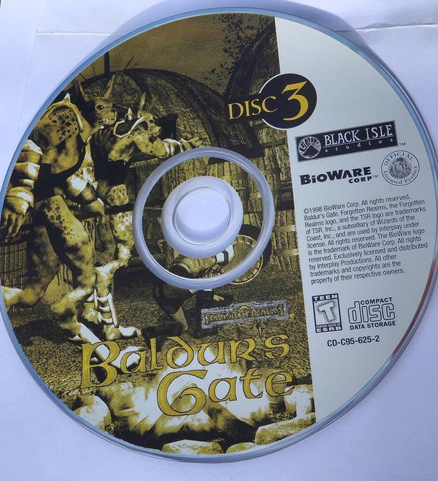 Retro gaming- Baldur's Gate original 5 cd set