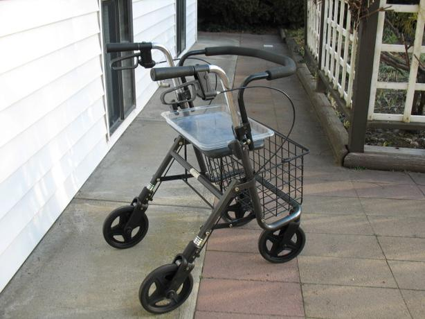 "NARROW EVOLUTION ""STEEL SERIES"" ROLLATOR WALKER WITH TRAY"