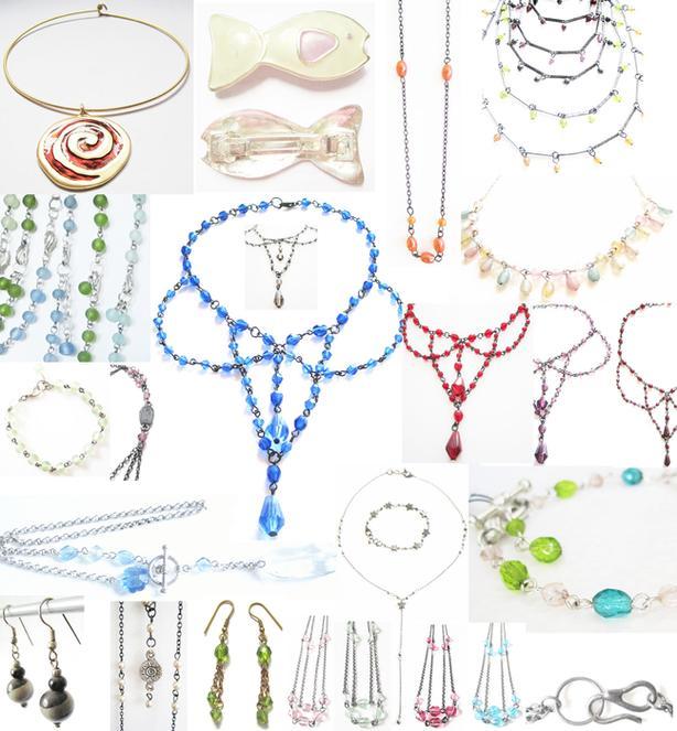 New Vintage Jewelry Beaded Metal Necklaces Bracelets Earrings