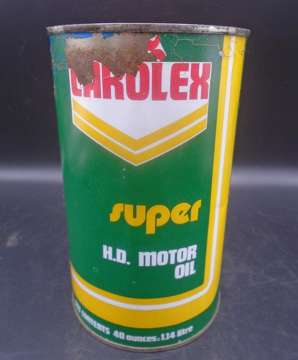 SCARCE 1950's VINTAGE CAR OLEX SUPER MOTOR OIL IMPERIAL QUART CAN