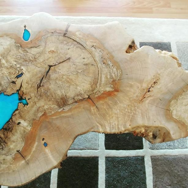 one of a kind maple coffee table