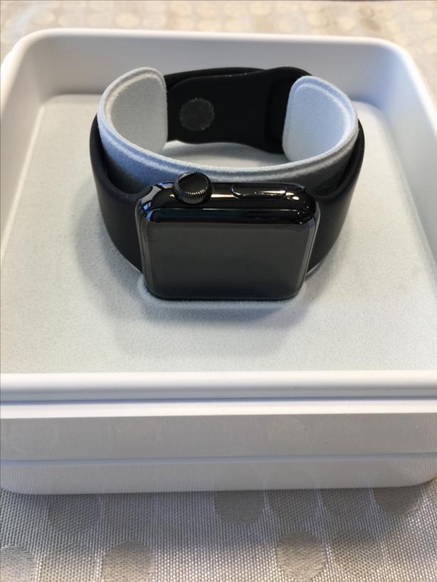 Apple watch series 2, black stainless steel