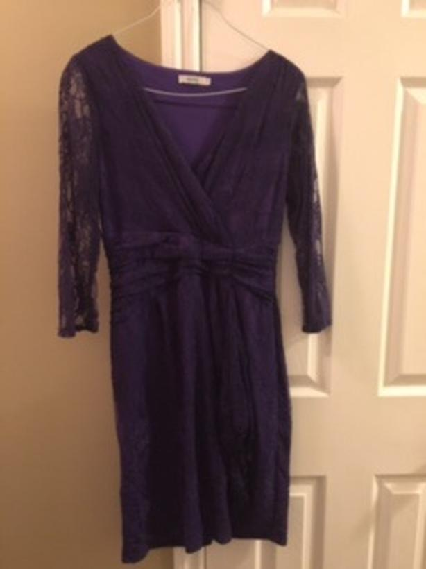 ***REDUCED - Ricki's Women's Purple Lace Dress For Sale