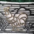 Cast iron Rooster doormatt or grate cover