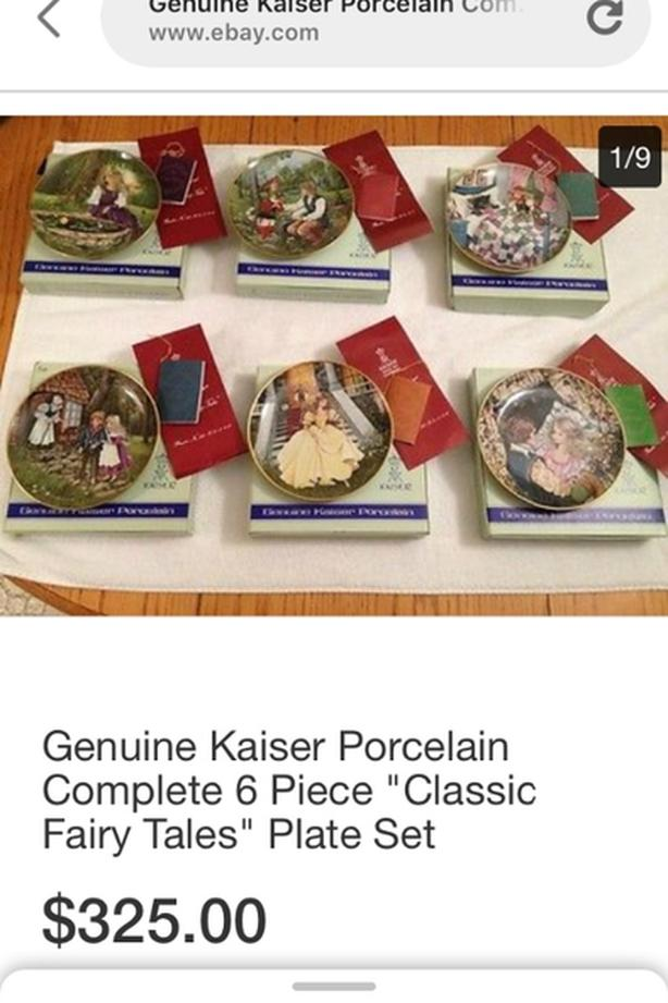 kaiser fairytale collection 6 plates new