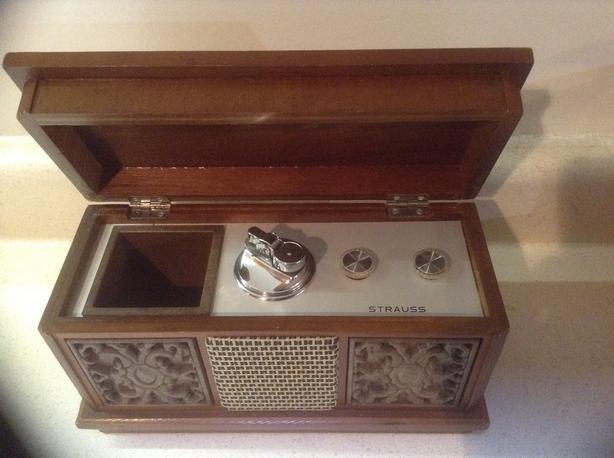 Desk lighter and radio