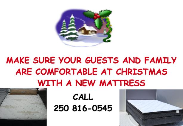 Holiday Guests??  Ensure their comfort with a New Mattress Set