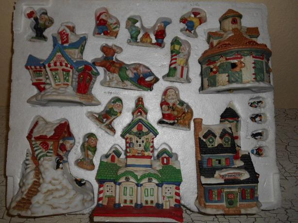 Santa's Village Christmas Holiday Hand Painted